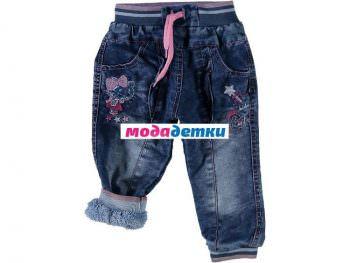 джинсы 6-9-12 мес (махра)